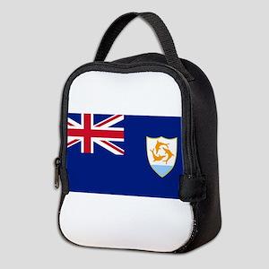 Anguilla Flag Neoprene Lunch Bag