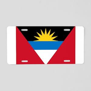 Antigua and Barbuda Flag Aluminum License Plate