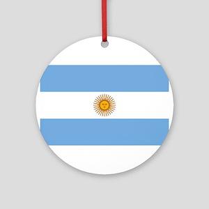 Argentina Flag Round Ornament