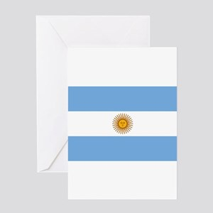 Argentina Flag Greeting Cards