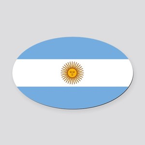 Argentina Flag Oval Car Magnet