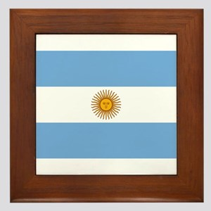 Argentina Flag Framed Tile
