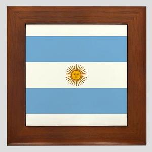 Argentina Flag Framed Tile