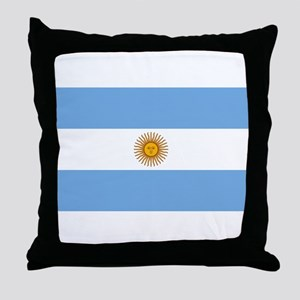 Argentina Flag Throw Pillow