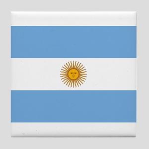 Argentina Flag Tile Coaster