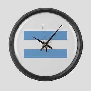 Argentina Flag Large Wall Clock