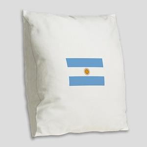 Argentina Flag Burlap Throw Pillow