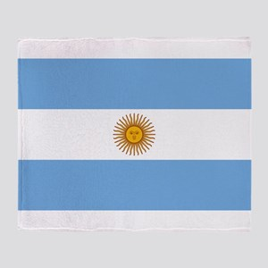 Argentina Flag Throw Blanket