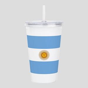 Argentina Flag Acrylic Double-wall Tumbler