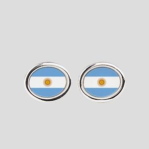 Argentina Flag Oval Cufflinks