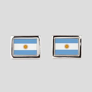 Argentina Flag Rectangular Cufflinks