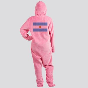 Argentina Flag Footed Pajamas