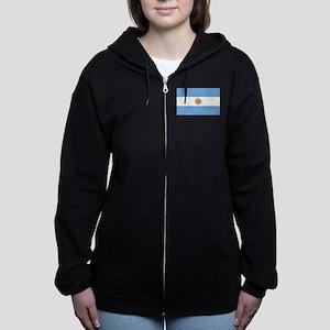 Argentina Flag Women's Zip Hoodie