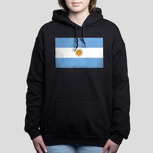 Argentina Flag Women's Hooded Sweatshirt