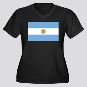 Argentina Flag Plus Size T-Shirt