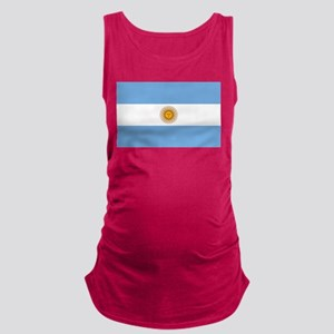 Argentina Flag Maternity Tank Top