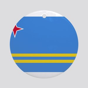 Aruba Flag Round Ornament