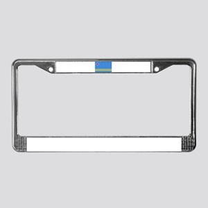 Aruba Flag License Plate Frame