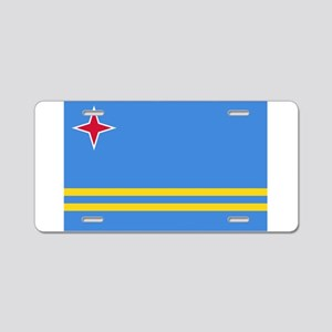 Aruba Flag Aluminum License Plate