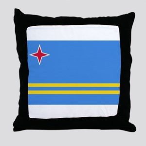 Aruba Flag Throw Pillow