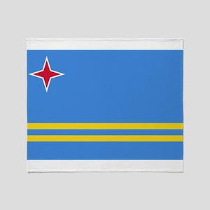 Aruba Flag Throw Blanket
