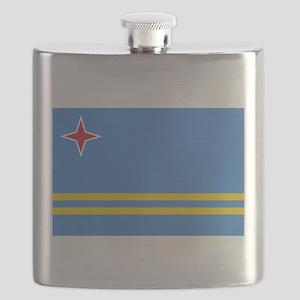 Aruba Flag Flask