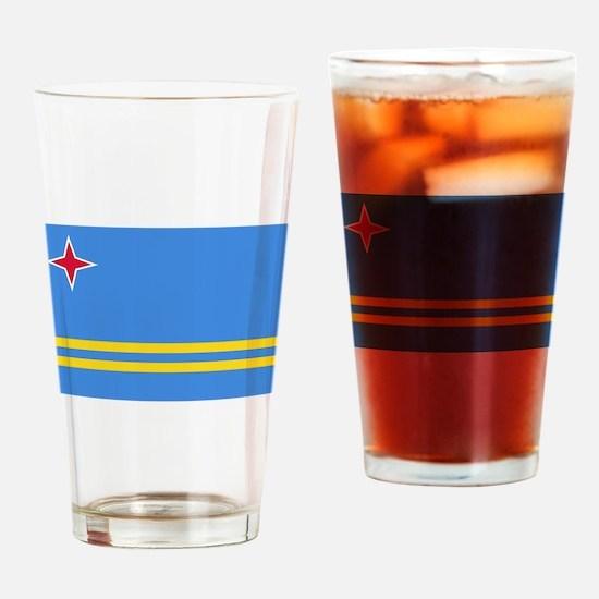 Aruba Flag Drinking Glass