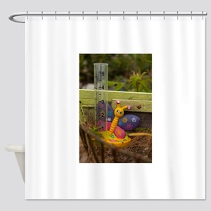 Smiling butterfly Shower Curtain