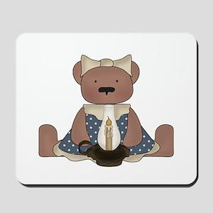 Teddy Bear With Vintage Lamp Mousepad