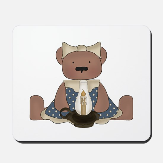 Teddy Bear With Vintage Lamp Mousepad