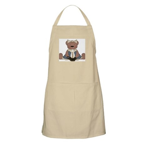 Teddy Bear With Vintage Lamp BBQ Apron