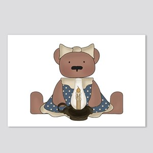 Teddy Bear With Vintage Lamp Postcards (Package of