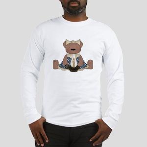 Teddy Bear With Vintage Lamp Long Sleeve T-Shirt