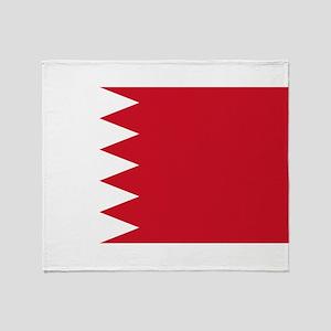 Bahrain Flag Throw Blanket
