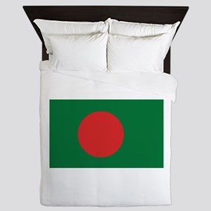 Bangladesh Flag Queen Duvet