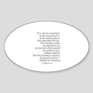 Hutchins Quote Oval Sticker