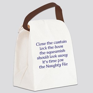Naughty File Canvas Lunch Bag