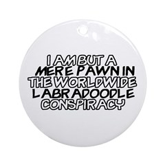 Labradoodle Conspiracy Ornament (Round)