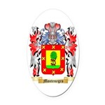 Montenegro Oval Car Magnet