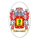Montenegro Sticker (Oval 10 pk)