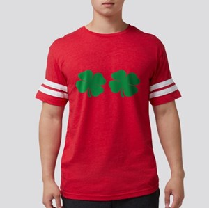 shamrock boobs Mens Football Shirt