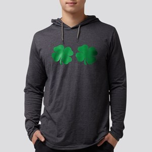 shamrock boobs Mens Hooded Shirt