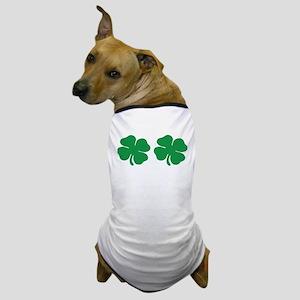 shamrock boobs Dog T-Shirt