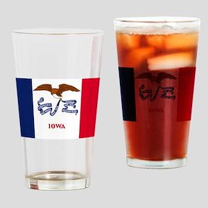 Iowa State Flag Drinking Glass