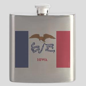 Iowa State Flag Flask