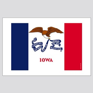 Iowa State Flag Large Poster