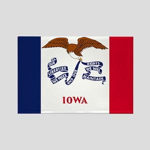Iowa State Flag Rectangle Magnet