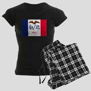 Iowa State Flag Women's Dark Pajamas