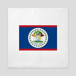Belize Flag Queen Duvet