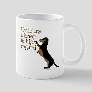 I hold my wiener dog Mugs